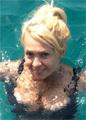 Беременная Рудковская снялась в бикини, а похудевший Басков – в трусах