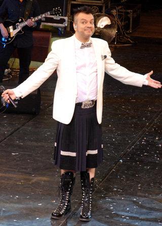 Филипп поразил пермяков шотландской юбкой (фото Ирины МОЛОКОТИНОЙ/«Комсомольская правда»)