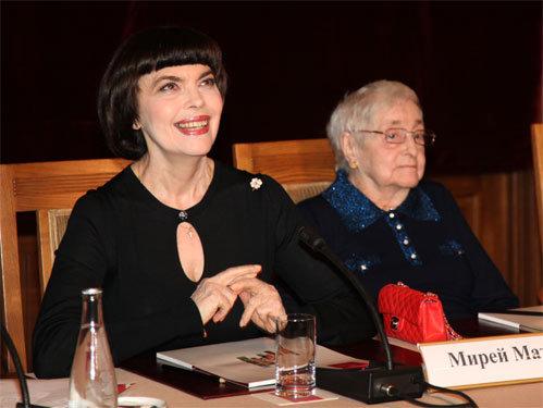 Мирей МАТЬЕ и её мама Марсель