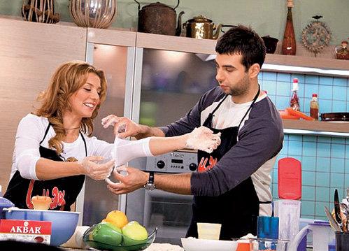 С Анной СЕДОКОВОЙ в кулинарной передаче «Смак»