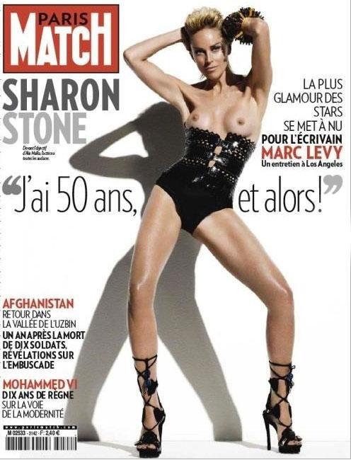 Шэрон СТОУН на обложке журнала «Paris Match»