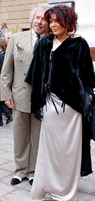 С третьей официальной супругой - Натальей ГОЛУБЬ