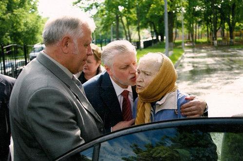 Сергей МИРОНОВ с первой учительницей Ираидой Сергеевной ПРОНИНОЙ