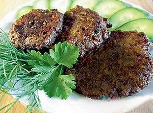 Оладьи из печенки и гречки - свадебное блюдо