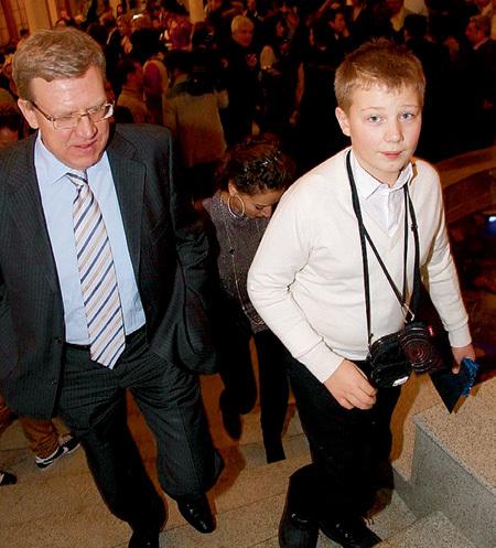 Алексей КУДРИН с сыном Артёмом