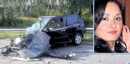 Вылетевшая на встречку машина РАДЗИНСКОГО разбила авто ЧОПОРОВА всмятку: пассажирского сиденья, где была Маша (справа), как будто не существовало