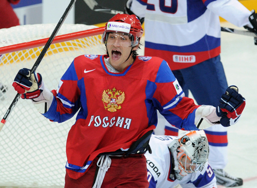 Нападающий сборной России Александр Овечкин. Фото: «РИА Новости».