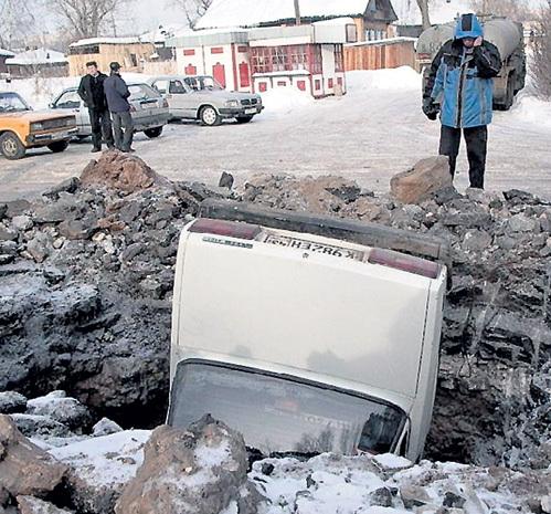 Жаль, что в России ещё не ввели ГОСТ на ямы, влетев в которые водители будут должны