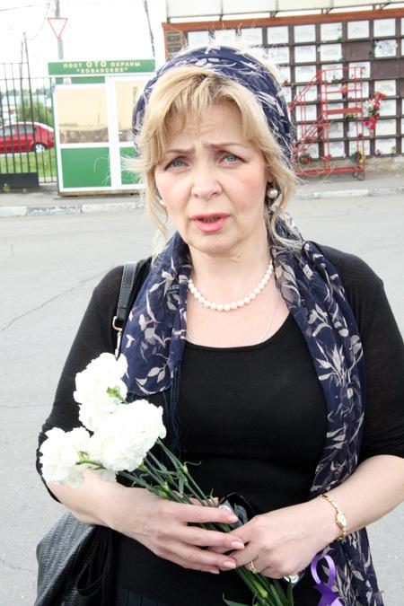 Вдова Вячеслава БАРАНОВА Татьяна