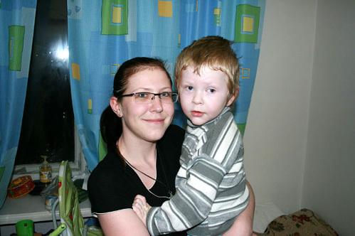 Костя с мамой Ириной