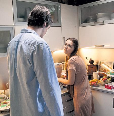 С экранным мужем Данилой ДУНАЕВЫМ в сериале «Развод»