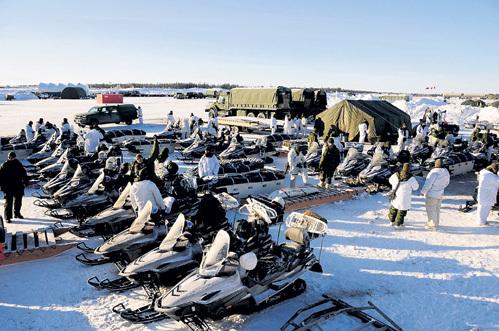 В прошлом феврале на канадской базе в Арктике альянс НАТО провёл пробу сил. Фото: strikehold.net