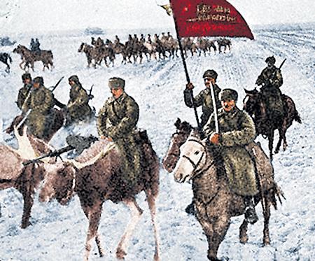 По распоряжению СТАЛИНА под Ленинградом был создан питомник, где выращивались лоси для кавалерии. Бойцы упирали сошки пулемета в развесистые рога. Лосиная кавалерия участвовала в войне с Финляндией