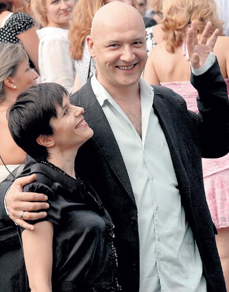 СУХАНОВ с нынешней супругой  - сценаристкой и журналисткой Этери ЧАЛАНДЗИЯ