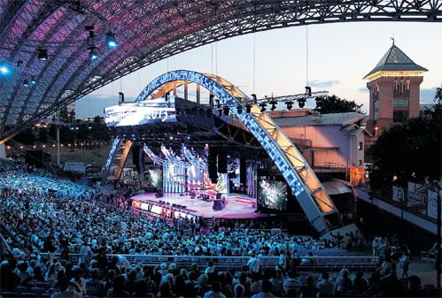 Легендарная сцена витебского Летнего амфитеатра в этом году отпраздновала 25-летний юбилей