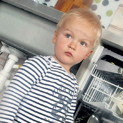Сыну пары - Егорке - недавно исполнилось два года