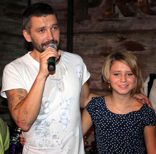 Владимир КРИСТОВСКИЙ с дочерью Ясмин