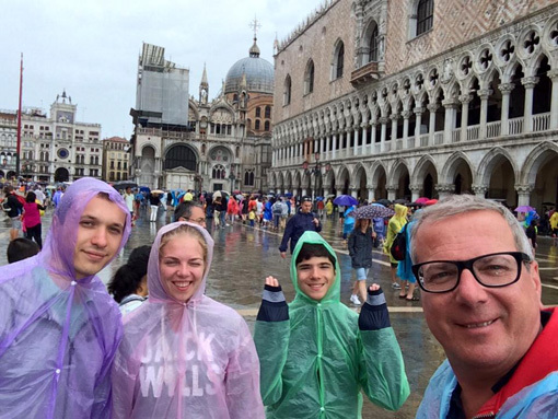 ЛЫСЕНКОВ с дочкой, её бойфрендом и сыном в Венеции
