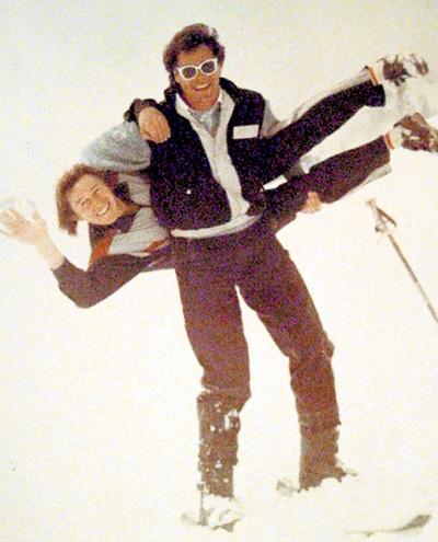 На горнолыжном курорте Чимбулак, расположенном в Медео (1990 г.)