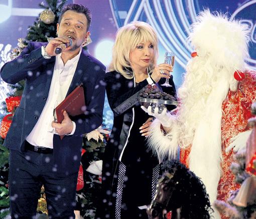 Ирина АЛЛЕГРОВА с поэтом Константином ГУБИНЫМ на «Песне года -2015»