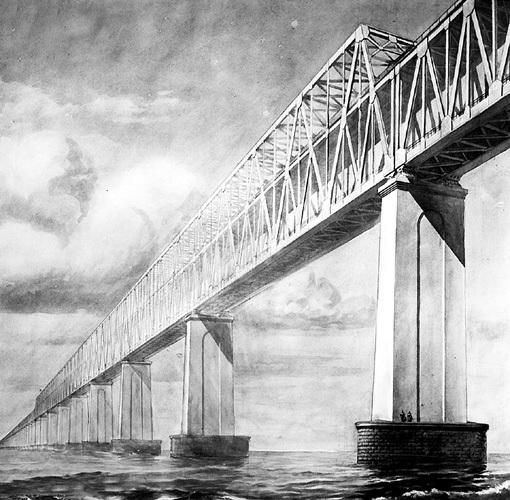Мост должен быть двухуровневым - для автомобилей и поездов