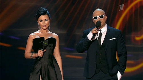 Анастасия ЗАВОРОТНЮК и Дмитрий НАГИЕВ (Кадр из шоу)