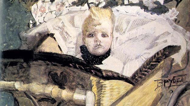 «Портрет сына художника» (1902): Савва родился с заячьей губой, что ввергло его отца в отчаяние