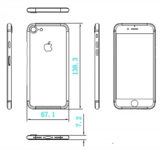 Чертежи iPhone 7