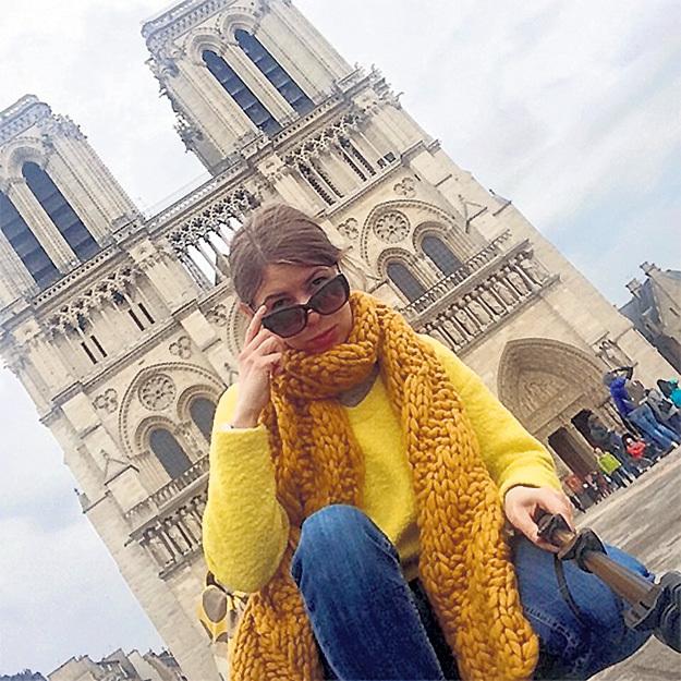 Катю ШУМИЛОВУ восхитил  Париж. Фото: Instagram.com