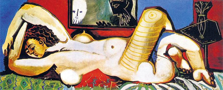 «Лежащая обнажённая «Вуайеризм», 1955 год. Написана со второй жены