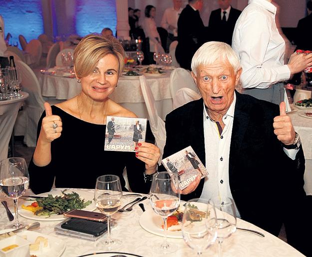81-летний отец Леонида АГУТИНА Николай Петрович пришёл с любимой женщиной Аллой