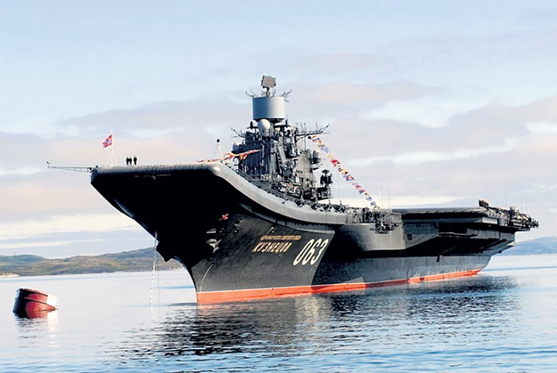 ...поднялся на борт «Адмирала Кузнецова», чтобы получить инструкции по управлению страной