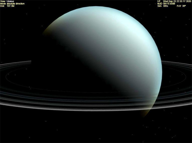 Кольца Урана с расстояния в несколько сотен тысяч километров. Фото: flickr.com