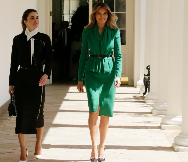 Меланья Трамп с королевой Иордании Ранией Аль-Абдулла. (Фото: Reuters.)