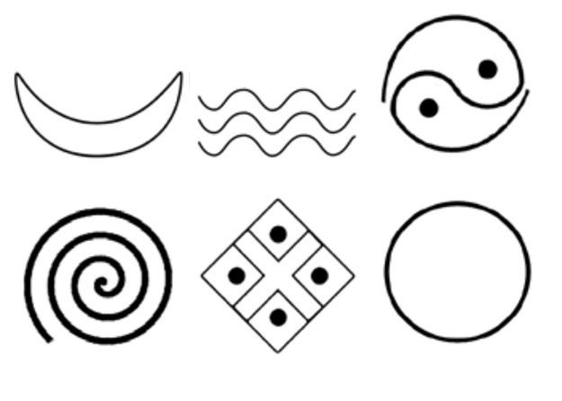 Символы и знаки Трипольской цивилизации (VI–III тыс. до н.э., Древняя Европа).