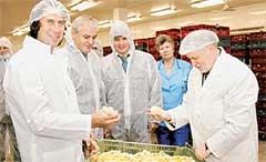 СЕРГЕЙ ЛИСОВСКИЙ (СЛЕВА): благодаря поддержке Динева, теперь может хвалиться цыплятами перед Сергеем Мироновым