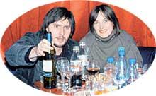 АННА ГЕРМ С ЖЕНИХОМ ВОЛОДЕЙ: по греческому обычаю смешивали вино с водой