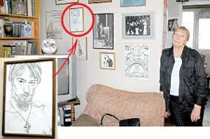 АВТОПОРТРЕТ СЫНА: Никита обнаружил в себе талант художника