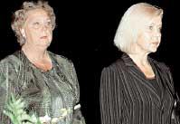 КОЛЛЕГИ: Лилита Озолиня (справа) играла дочь героя Эдуарда Озола в &#034Долгой дороге...&#034