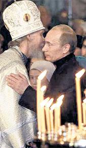 РОЖДЕСТВО В ВЕЛИКОМ УСТЮГЕ: настоятель Прокопьевского храма отец Вадим поздравил президента России