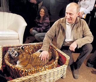 Владимир ПУТИН был глубоко растроган подарком из тайги (фото Владимира ВЕЛЕНГУРИНА/«Комсомольская правда»)