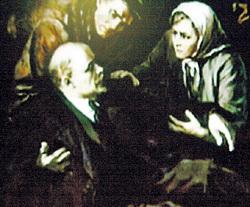 «Неправильная» картина: раненного Ильича поднимают за простреленную руку