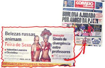 Обложки португальских газет пестрели заголовками о сенсационном успехе русских девушек на фестивале