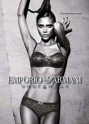 В прошлом году экс-Спайз герлз позировала для черно-белой рекламы нижнего белья Armani. На этих снимках она сильно отличается от себя 18-летней.