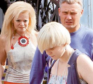 Лариса с милым другом Владимиром ПОНОМАРЁВЫМ и дочерью Линой