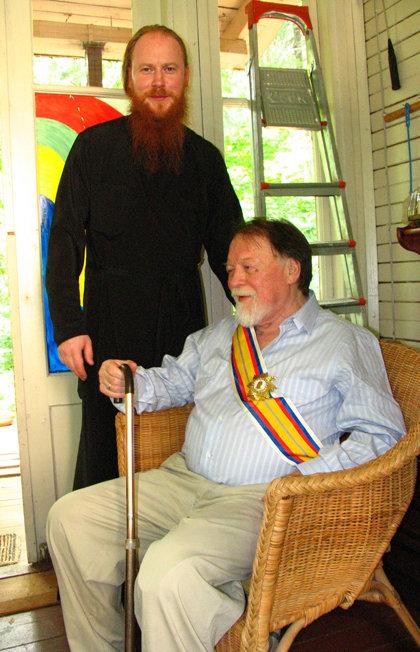 Михаил РОЩИН с сыном Дмитрием. Лето 20006 года