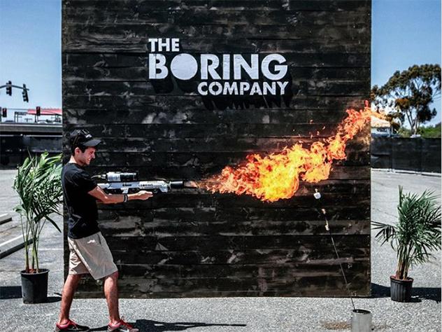 К началу «сезона барбекю» покупатели стали получать купленные у Илона Маска фирменные огнеметы от Boring Company.