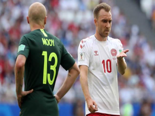 Сборная Дании сыграла вничью с Австралией и стала лидером группы С