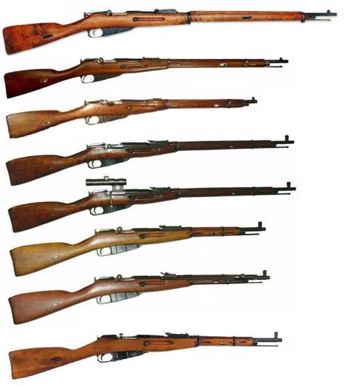 Модели русской трехлинейной винтовки Мосина образца 1891 года. Фото: wikimedia.org