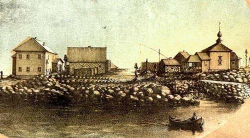 Так выглядели Соловки в XIX веке. Литография В. Черепанова, 1884 г. Источник: wikipedia.org